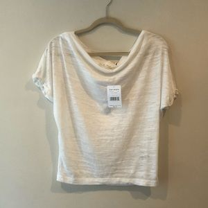 NWT Free People Cowl Neck Tee